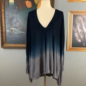 Pins and Needles Blue Ombre V Neck Sweater